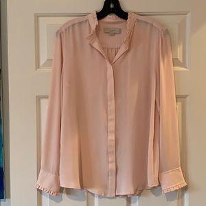 LOFT pink blouse Medium